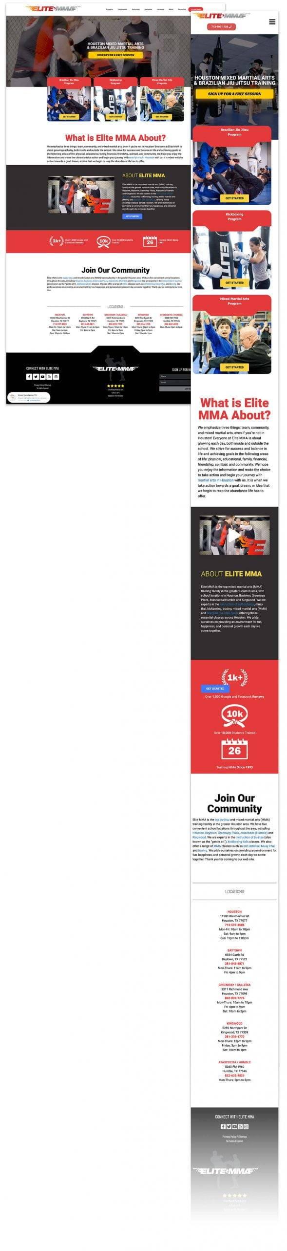 EliteMMA - Portfolio - EWR Digital